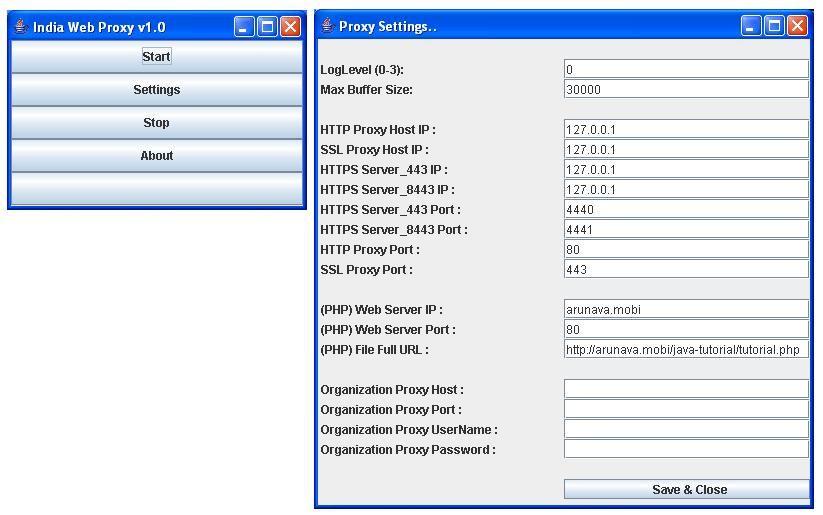 Internet proxy server india